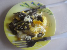 Главное фото рецепта Яичница с говяжей печенью