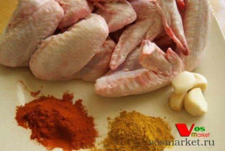 Ингредиенты для приготовления крылышек в духовке