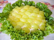 Салат Тиффани с листьями салата