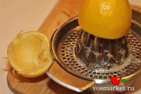 Отжимайте лимонный сок