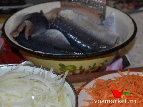 Ингредиенты для приготовления селёдки по-голландски