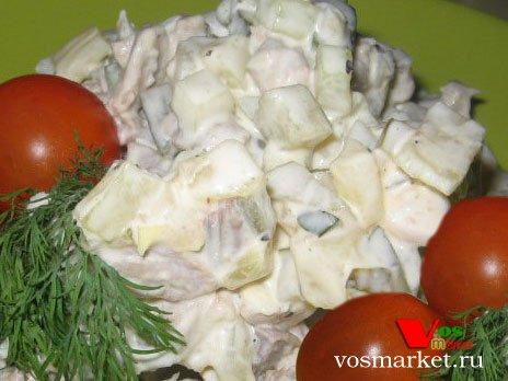 мясной салат с говядиной и ананасом рецепт