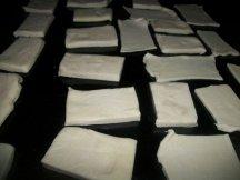 Квадраты из слоеного теста