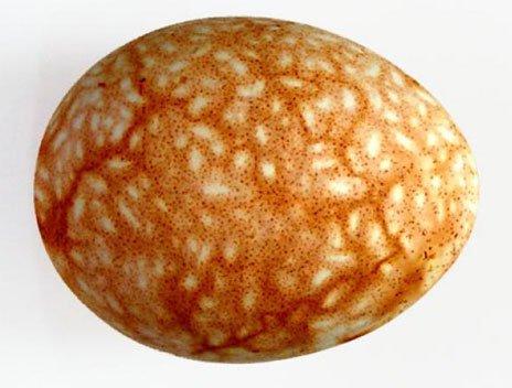 Яйцо украшенная зернышками риса