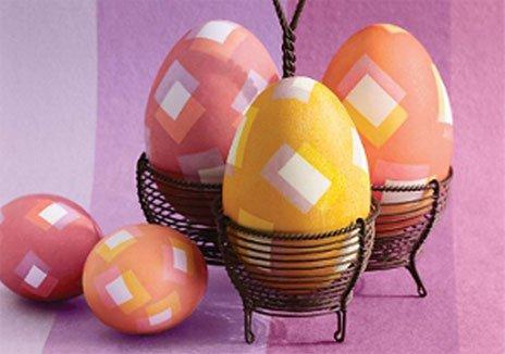 Яйца украшенные ромбиками