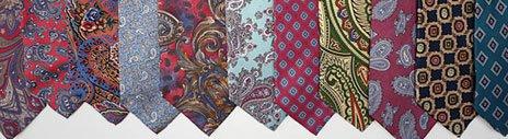 Для окраски шёлком можно использовать старые галстуки