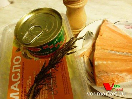 Продукты для приготовления рыбного паштета