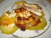 Фото готового блюда: Свиные отбивные с кабачками