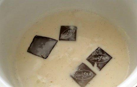 Растворяйте шоколад в молоке