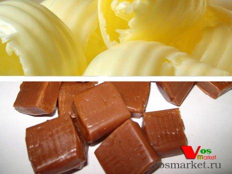 Сливочное масло и конфеты ириски