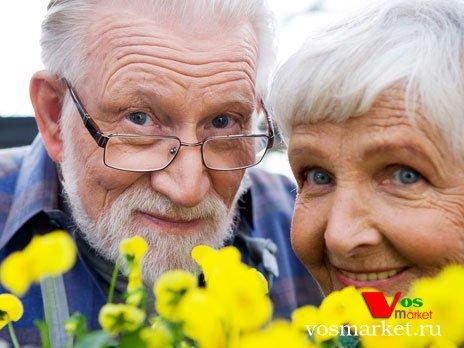 Счастливый и здоровый старость