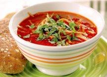 Фото готового блюда: Томатный суп с брокколи