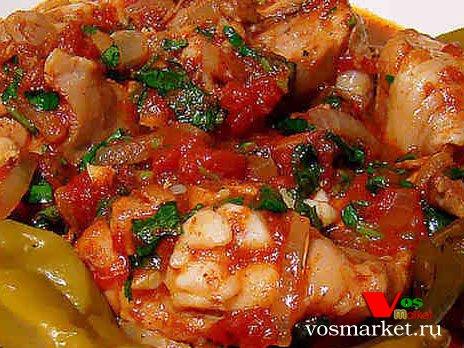 Блюдо грузинская чахохбили