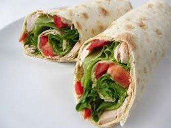 Горячий бутерброд в лаваше