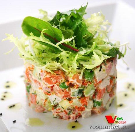 Готовый салат Оливье из морепродуктов