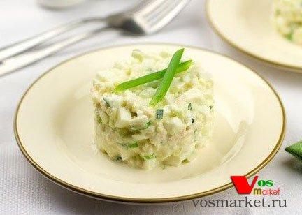 Готовый салат из мяса криля