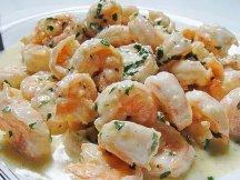 Главное фото рецепта Креветки в сливочном соусе