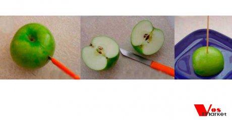 Дервяная шпажка на яблоке