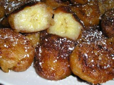 Готовый десерт из бананов