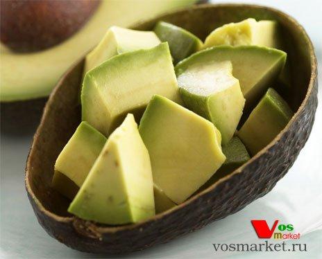 Очищенный мякоть плода авокадо