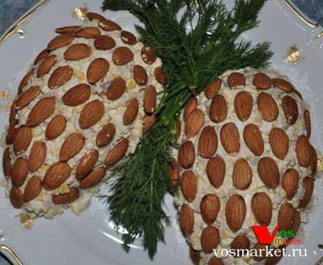 Салаты рецепт кедровая шишка 116