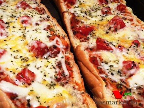 Фото готового блюда: Ленивая пицца из батона