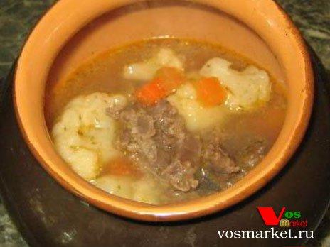Суп Гуляш в горшочке