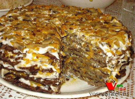 пирог печеночный рецепт с фото в духовке