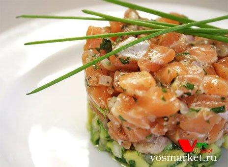 Фото готового блюда: Тартар из красной рыбы