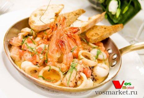 Фотография готового блюда из морепродуктов