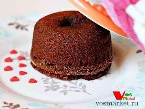 .фото шоколадного кекса с жидкой начинкой