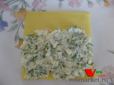 Начинка на пласте сыра