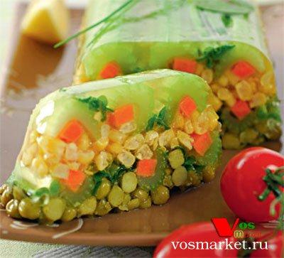 Готовое заливное из овощей с желатином