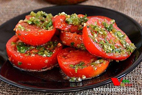 Пряные помидоры на зиму по-керйски