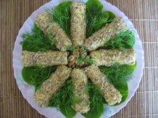 Фото готового блюда: Сырные трубочки с яйцом