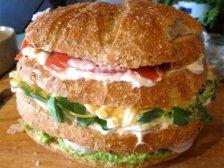 Торт-бутерброд с креветками