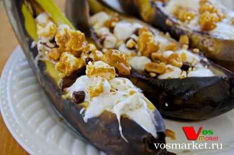 Банановые лодочки с шоколадом