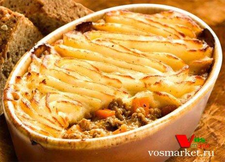 Пастуший пирог с мясом и картошкой