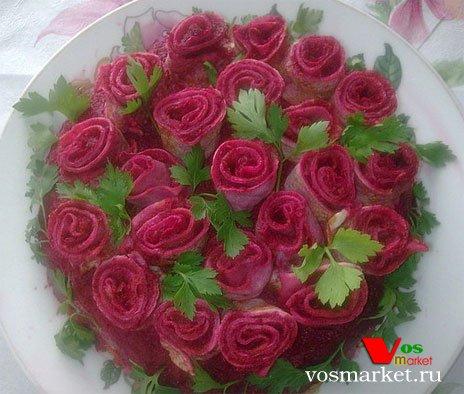 Салат розы для любимого фото