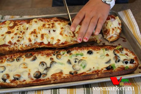 пицца из батона рецепт