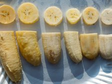 Мякоть разных сортов банана