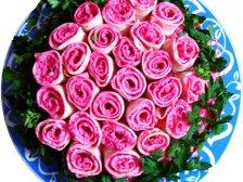 Салат Роза оформление