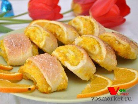 Готовые апельсиновые печенья