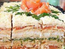 Главное фото рецепта Торт слоеный рыбный