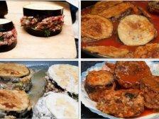 Этапы приготовления блюда из баклажанов