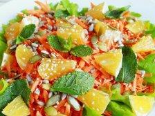 Фото приготовления Салат с апельсинами