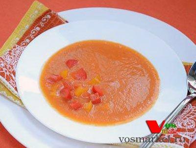 Суп-пюре из болгарских перцев с помидорами и картошкой