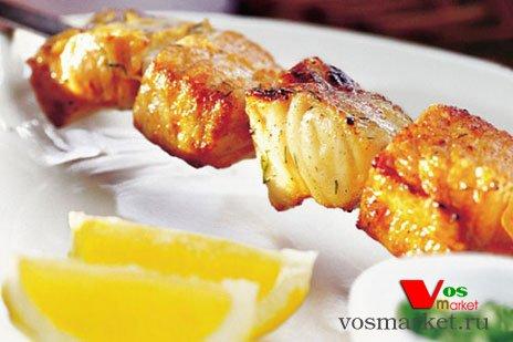 Шашлык из маринованный рыбы