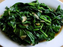 Фото готового блюда: Жареный шпинат