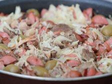 Фото готового блюда: Солянка на сковороде